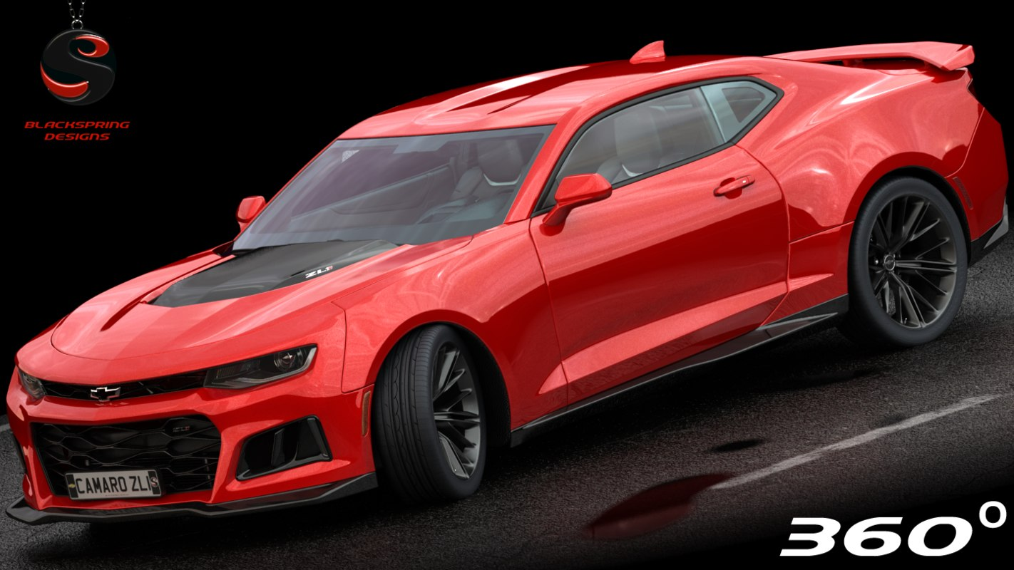 Chevrolet Camaro Zl1 2017 3d Model 1142754 Turbosquid