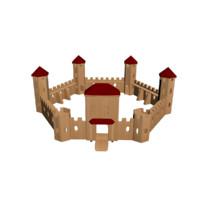 3D castle wall model