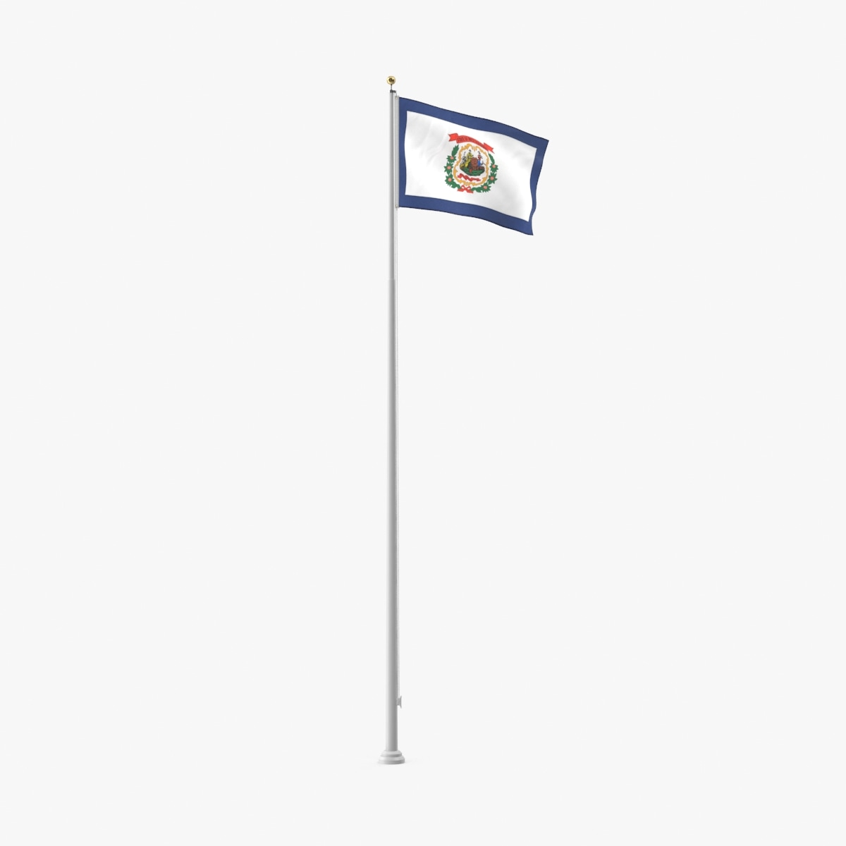3D model state-flags---west-virginia