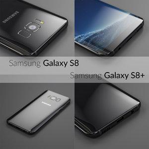 3D flagship samsung galaxy s8 model