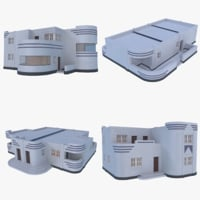 Streamline Moderne Home Collection 1 ( Interior + Exterior )