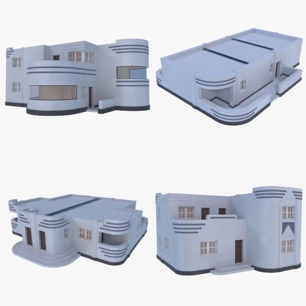 streamline moderne interior 3D model