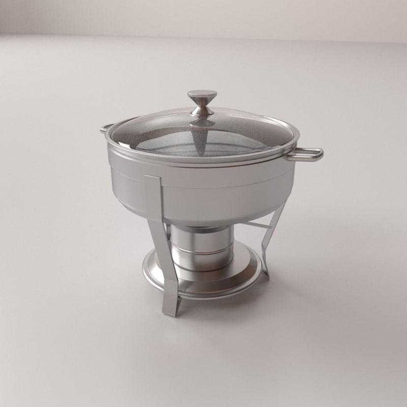 3D chafing dish v2 model