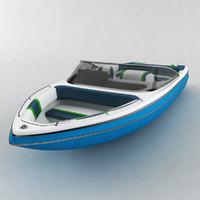 motor boat sea 3D model
