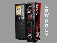 3D coffee vending machine model
