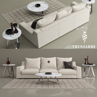 trussardi casa sofa 914 3D model