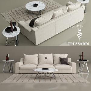 trussardi casa sofa 914 3D model