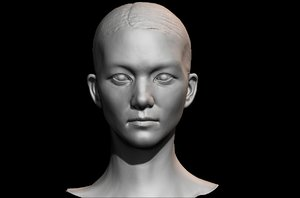 3D face uv model