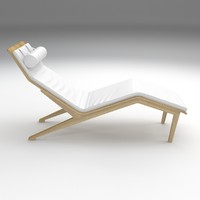 3D musa chaise longue