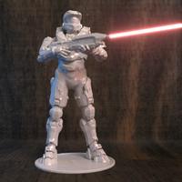 halo printer 3D model