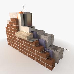 construction - architecture masonry model