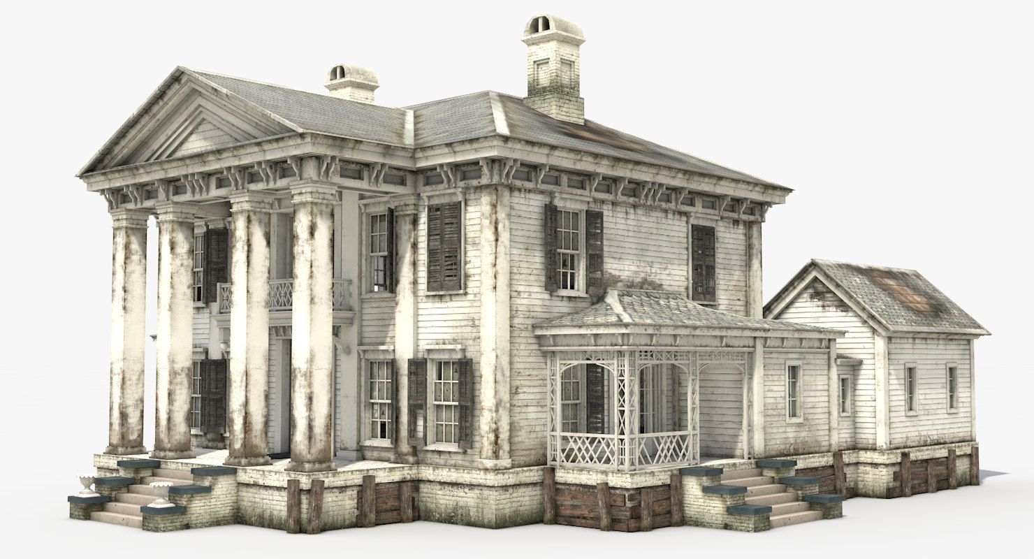 3D old abandoned mansion