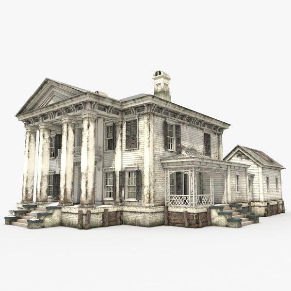 3D old abandoned mansion