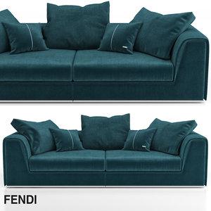 3D model fendi prestige sofa