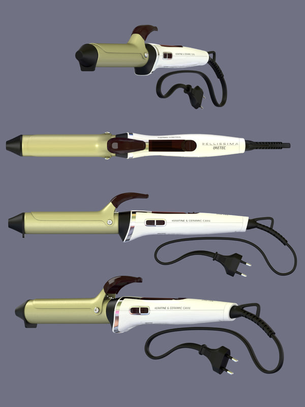 modelled curling iron 3D model