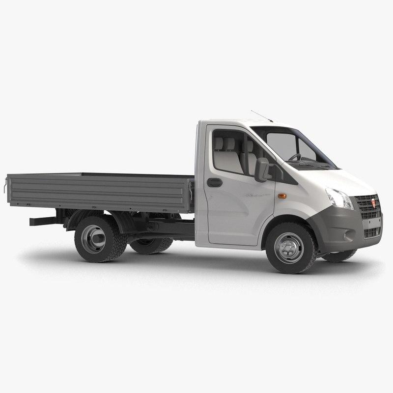 3D model gazzele drop truck