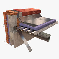 construction - architecture flat roof 3D model