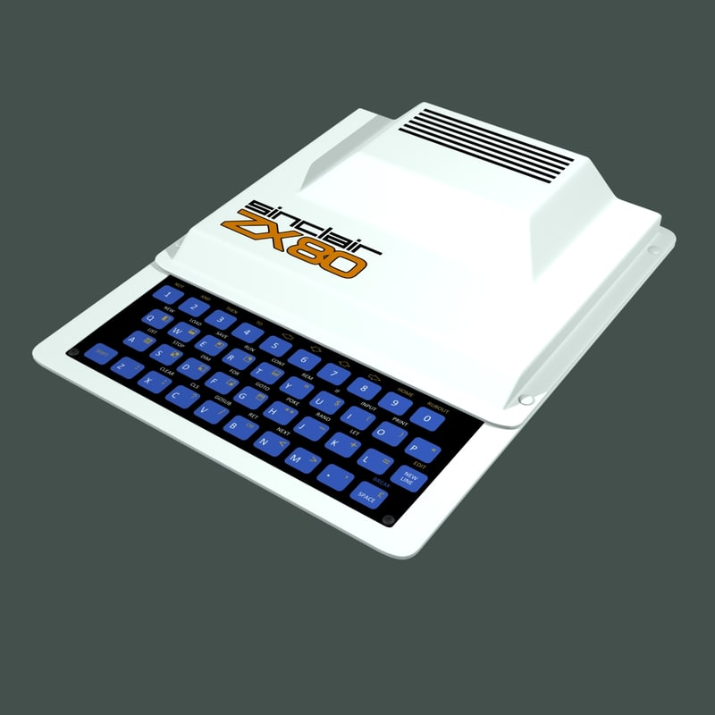 sinclair zx80 3D
