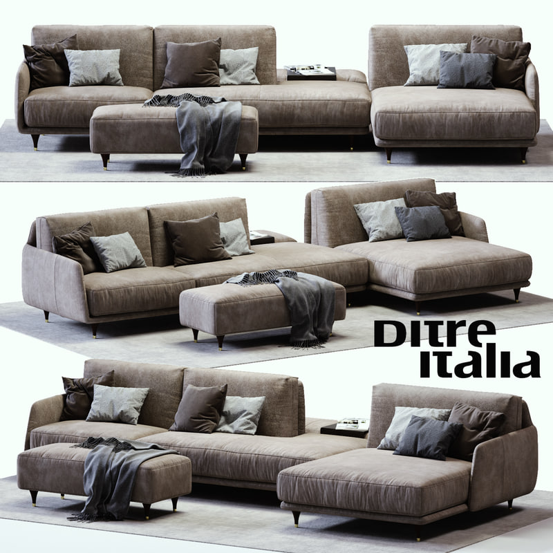 ditre italia elliot sofa 3D model