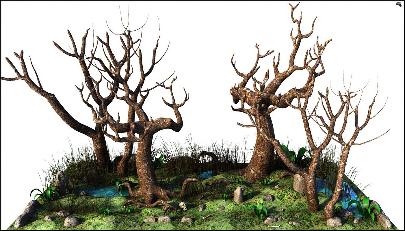 tree tetric death 3D model