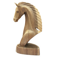 3D wooden horse carving