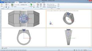 3D model mans ring
