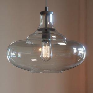 3D mccarthy light glass pendant model