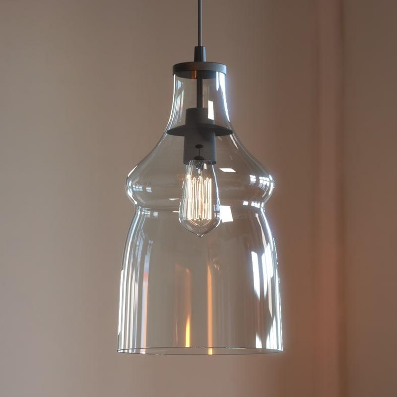 mccarthy light glass pendant model