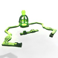 3D teleport atom