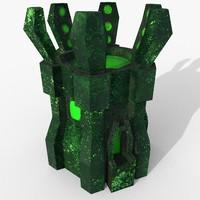 3D tower atom model