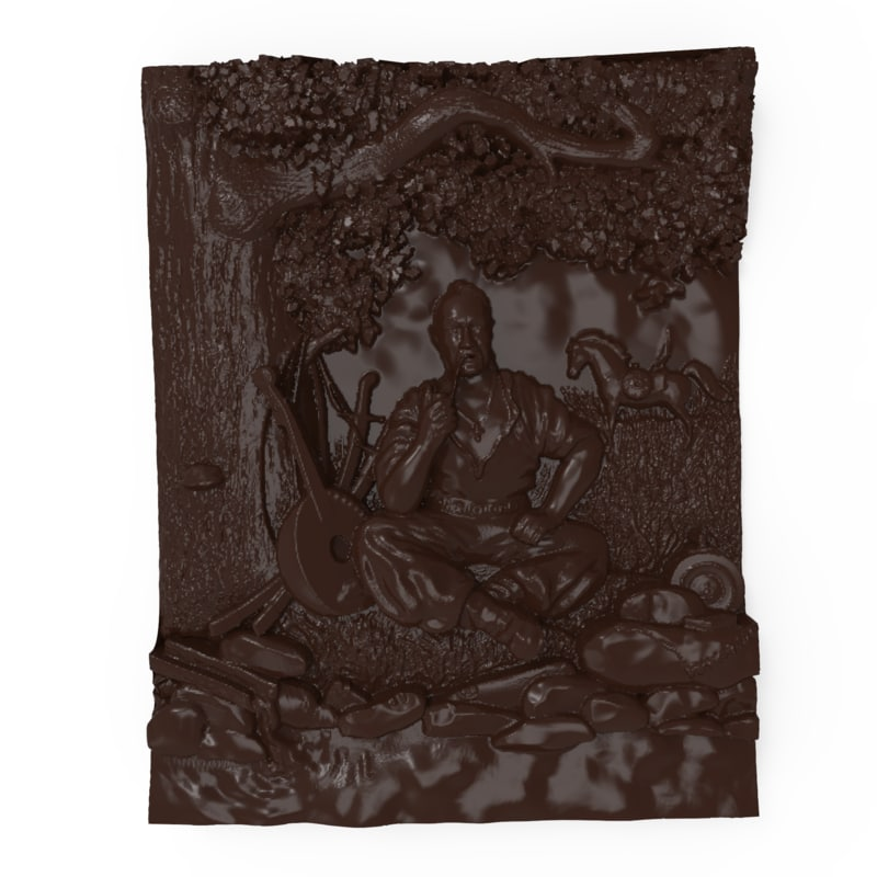 3D bas relief cossack mamay
