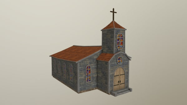 3D model old church