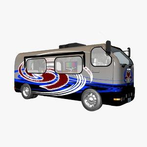 class camper van 3D model