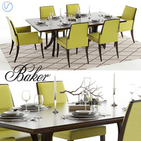 baker vienna table abrazo 3D model