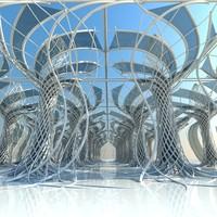 3D architectural interior model