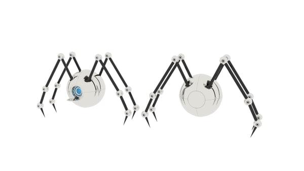 3D model tap spider sphere robot