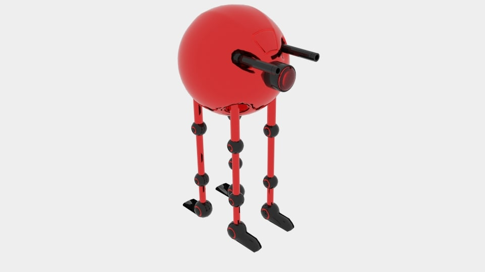 robot spherobot 3D model