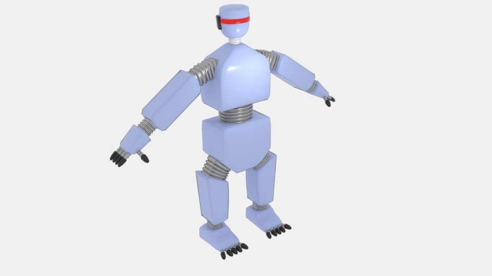 3D cartoon tronic bot model
