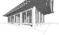 hanok korean house model