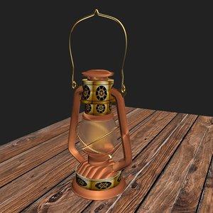 oil lantern light 3D model