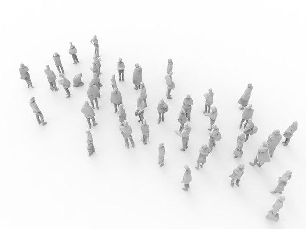 45 people 3D model