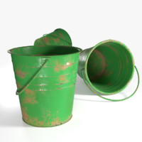 3D bucket metallic model