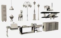 props desk 3D model