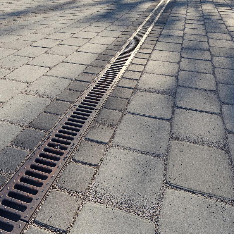 3D paving rain drainage
