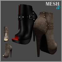 Leaver High Heels Shoes