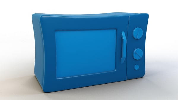 cartoon toon microwave 3D model