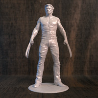 3D wolverine movie printer model