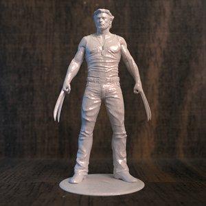3D wolverine movie printer model