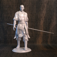 3D darth maul printer model