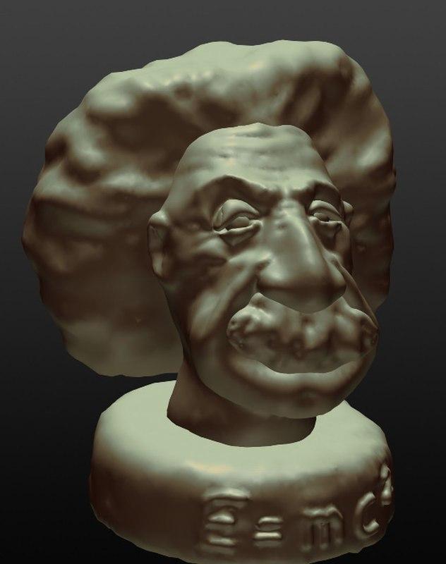 3D albert einstein bust model